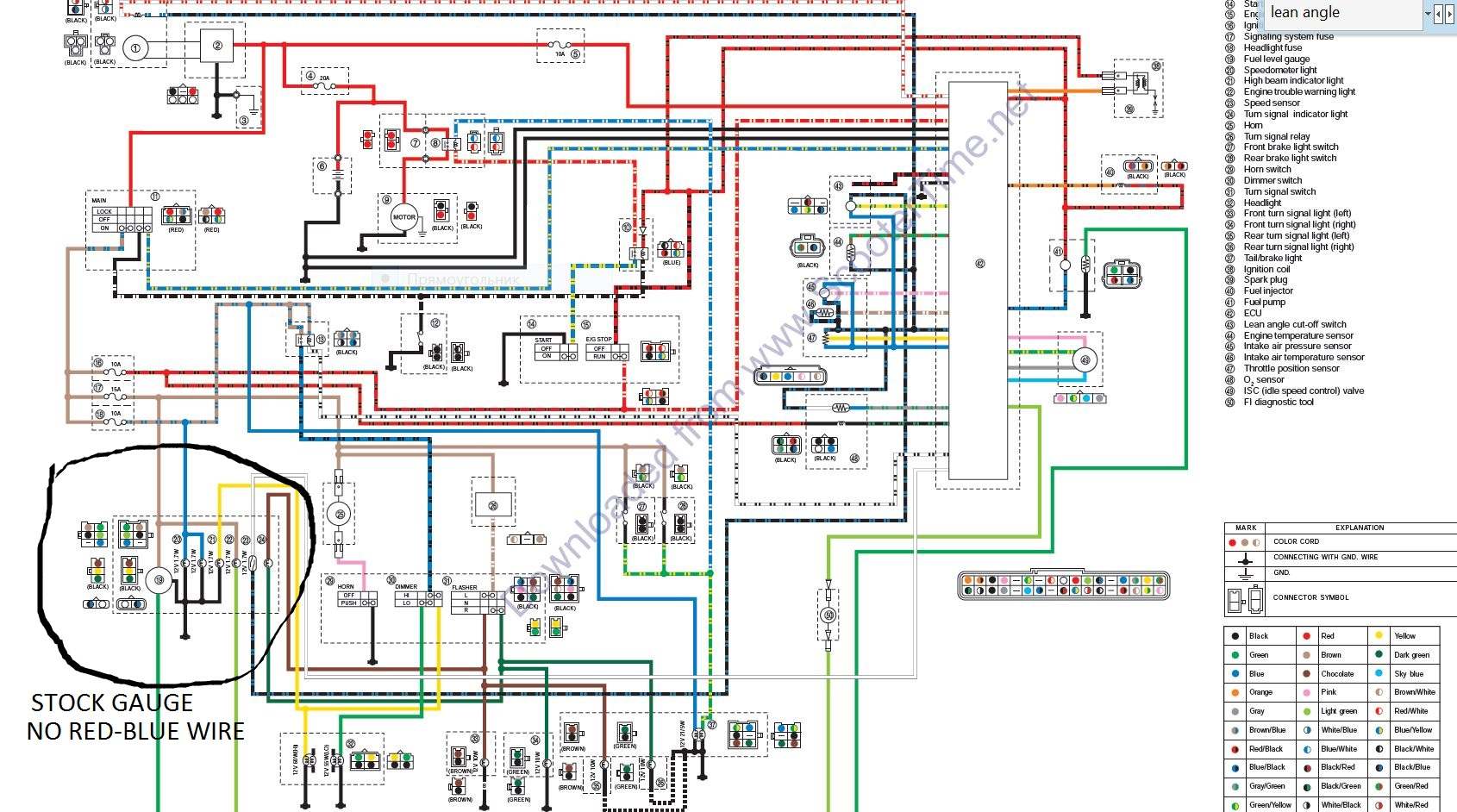 Yamaha Zuma Wiring Diagram Electrical Library 49cc 2 Stroke Scooter Diagrams Zumaforums Net View Topic Bws X Gauge Installed 50 Source